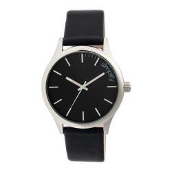 Men's Simplify The 2400 Quartz Watch Black Leather/Black