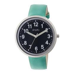 Men's Simplify The 2600 Quartz Watch Turquoise Leather/Black