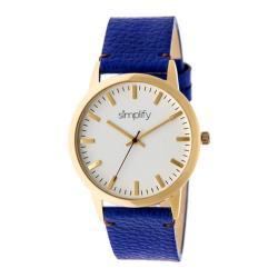 Men's Simplify The 2800 Quartz Watch Blue Leather/White