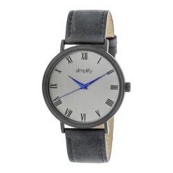 Men's Simplify The 2900 Quartz Watch Charcoal Leather/Charcoal