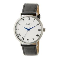 Men's Simplify The 2900 Quartz Watch Charcoal Leather/Silver