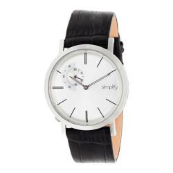 Men's Simplify The 3100 Quartz Watch Black Leather/Silver
