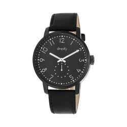 Men's Simplify The 3400 Quartz Watch Black Leather/Black