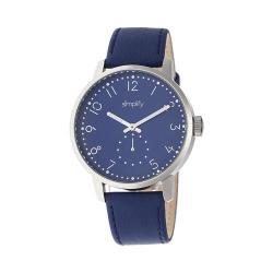 Men's Simplify The 3400 Quartz Watch Blue Leather/Blue