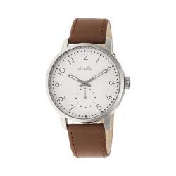 Men's Simplify The 3400 Quartz Watch Brown Leather/Khaki/tan