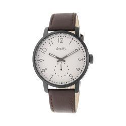 Men's Simplify The 3400 Quartz Watch Dark Brown Leather/Khaki/tan