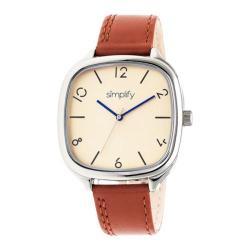 Men's Simplify The 3500 Quartz Watch Camel Leather/Gold