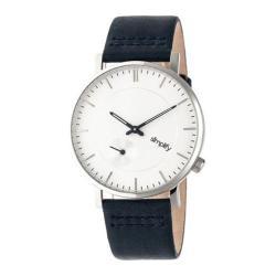 Men's Simplify The 3600 Quartz Watch Navy Leather/Silver