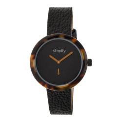 Men's Simplify The 3700 Quartz Watch Black Leather/Black