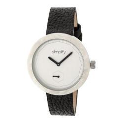 Men's Simplify The 3700 Quartz Watch Black Leather/Silver