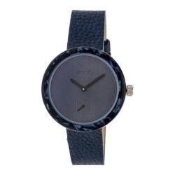 Men's Simplify The 3700 Quartz Watch Navy Leather/Blue