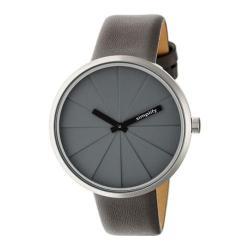 Men's Simplify The 4000 Quartz Watch Grey Leather/Grey