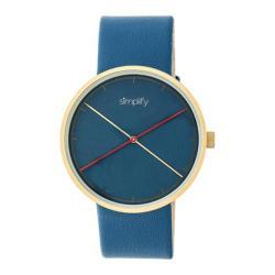 Men's Simplify The 4100 Quartz Watch Blue Leather/Blue