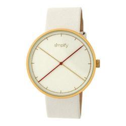 Men's Simplify The 4100 Quartz Watch White Leather/White
