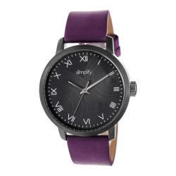 Men's Simplify The 4200 Quartz Watch Purple Leather/Black