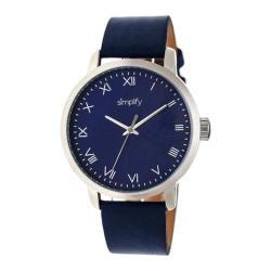 Men's Simplify The 4200 Quartz Watch Navy Leather/Navy