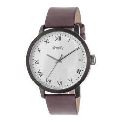 Men's Simplify The 4200 Quartz Watch Plum Leather/Silver