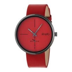 Men's Simplify The 4400 Quartz Watch Red Leather/Red