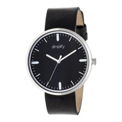 Men's Simplify The 4500 Quartz Watch Black Leather/Black