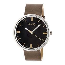 Men's Simplify The 4500 Quartz Watch Umber Leather/Black