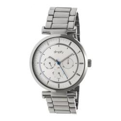 Men's Simplify The 4800 Quartz Watch Silver Metal/Silver