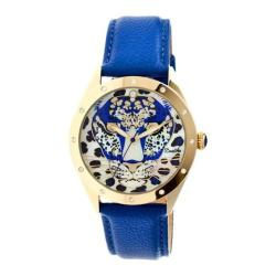Women's Bertha Alexandra BR4706 Watch Blue Leather/Multicolored