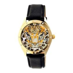 Women's Bertha Alexandra BR4707 Watch Black Leather/Multicolored