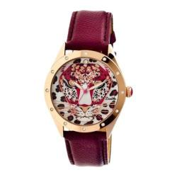 Women's Bertha Alexandra BR4708 Watch Maroon Leather/Multicolored