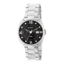 Women's Bertha Amelia BR6301 Watch Silver Stainless Steel/Black