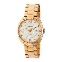 Women's Bertha Amelia BR6303 Watch Rose Gold Stainless Steel/Silver