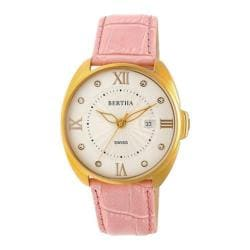 Women's Bertha Amelia BR6305 Watch Light Pink Leather/Silver