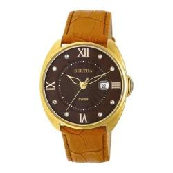 Women's Bertha Amelia BR6306 Watch Orange Leather/Dark Brown
