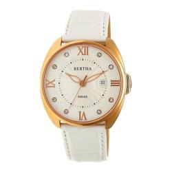 Women's Bertha Amelia BR6307 Watch White Leather/Silver