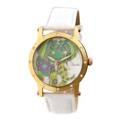 Women's Bertha Betsy BR5703 Watch White Leather/Multicolored