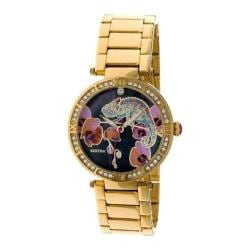 Women's Bertha Camilla BR6202 Watch Gold Stainless Steel/Multicolored