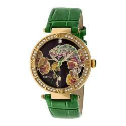 Women's Bertha Camilla BR6206 Watch Green Leather/Multicolored