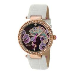 Women's Bertha Camilla BR6207 Watch White Leather/Multicolored