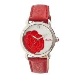 Women's Bertha Daphne BR4604 Watch Red Leather/White
