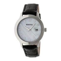 Women's Bertha Eden BR6501 Watch Black Leather/White