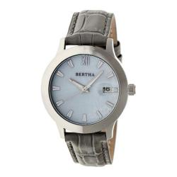Women's Bertha Eden BR6502 Watch Grey Leather/White