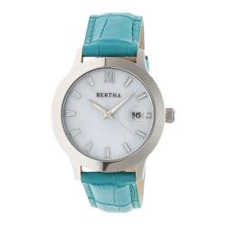 Women's Bertha Eden BR6503 Watch Turquoise Leather/White