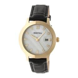 Women's Bertha Eden BR6504 Watch Black Leather/White