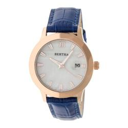 Women's Bertha Eden BR6506 Watch Blue Leather/White