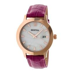 Women's Bertha Eden BR6507 Watch Fuchsia Leather/White