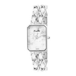 Women's Bertha Eleanor BR5901 Watch Silver Stainless Steel/White
