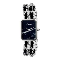Women's Bertha Eleanor BR5902 Watch Silver Stainless Steel/Black