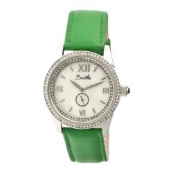 Women's Bertha Emma BR5203 Watch Green Leather/White