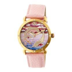 Women's Bertha Estella BR5104 Watch Light Pink Leather/Multicolored