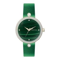 Women's Bertha Frances BR6403 Watch Green Leather/Green