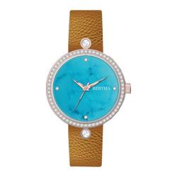 Women's Bertha Frances BR6405 Watch Camel Leather/Cerulean